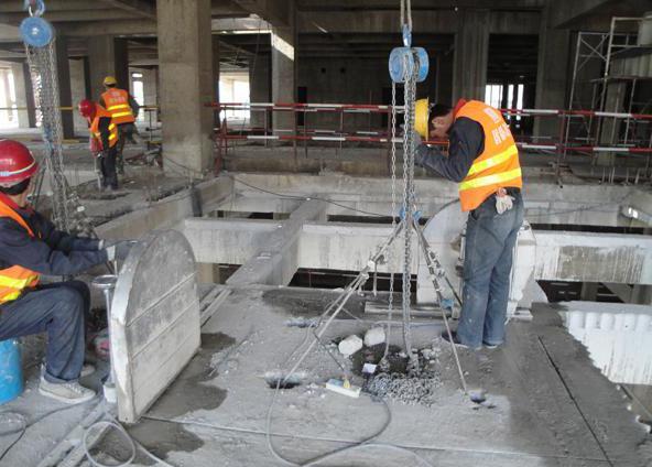呼和浩特老旧小区改造混凝土切割拆除施工案例
